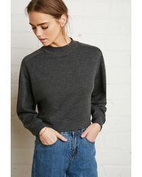 Forever 21 - Gray Mock Neck Sweatshirt - Lyst