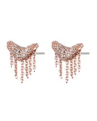 Alexis Bittar | Metallic Rose Gold Encrusted Fringe Studs | Lyst