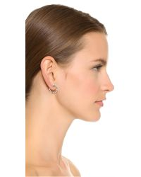 Marc Jacobs | Metallic Small Crystal Hoop Earrings | Lyst