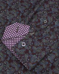 Ted Baker | Red Paisley Print Shirt for Men | Lyst