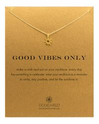 Dogeared | Metallic 'good Vibes Only' Sun Pendant Necklace | Lyst