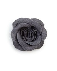 Hook + Albert - Gray Lapel Flower Pin - Lyst