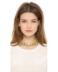 Lee Angel | Metallic Ombre Baguette Box Link Necklace | Lyst