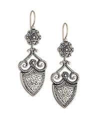 Konstantino - Metallic Classic Sterling Silver Shield Drop Earrings - Lyst