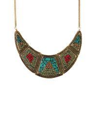 AKIRA | Multicolor Rajmata Necklace | Lyst