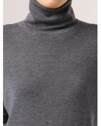 Barbara Bui - Gray Knit Turtleneck - Lyst