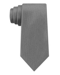 DKNY | Gray Golden Island Micro Solid Slim Tie for Men | Lyst