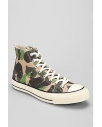 f03a64cfe9c7 Lyst - Converse Chuck Taylor All Star 70s Camo High Top Sneaker in ...