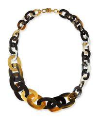 Ashley Pittman | Metallic Laini Mixed Horn & Bronze Necklace | Lyst