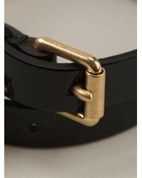 Alexander McQueen - Black Skull Detail Bracelet - Lyst