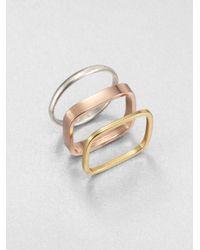Saks Fifth Avenue - Multicolor Tri-Tone Ring Set - Lyst