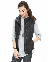 Banana Republic | Black Quilted Field Vest | Lyst