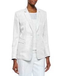 Lafayette 148 New York - White Mackenzie One-button Jacket - Lyst