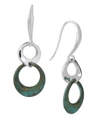 Robert Lee Morris | Green Patina Colada Sculptural Link Double Drop Earrings | Lyst