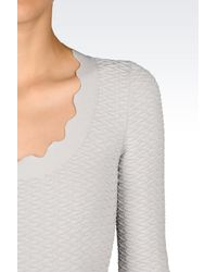 Emporio Armani - Gray Short Dress - Lyst