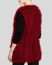 Maximilian - Red Knitted Kalgan Lamb Vest - Bloomingdale's Exclusive - Lyst