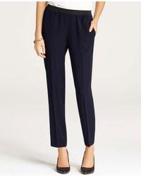 Ann Taylor | Blue Draped Ankle Pants | Lyst