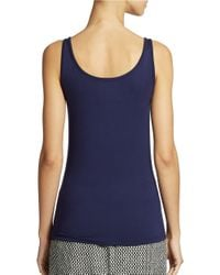 Lord & Taylor | Blue Petite Scoop Neck Tank Top | Lyst