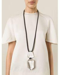 Monies - Black Oversized Pendant Necklace - Lyst