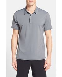 BPM Fueled by Zella | Gray 'celsian' Tech Polo for Men | Lyst