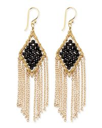 Panacea | Metallic Beaded Tassel Earrings | Lyst