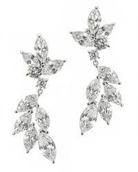 Kenneth Jay Lane | Metallic Marquis Hanging Earrings | Lyst