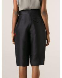 Moncler Gamme Rouge | Black Voluminous Shorts | Lyst