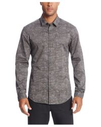 BOSS Green - Gray 'bersh' | Slim Fit, Stretch Cotton Button Down Shirt for Men - Lyst