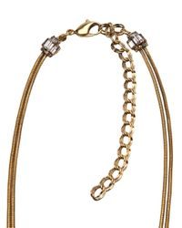 Erickson Beamon - Metallic Crystal Necklace - Lyst