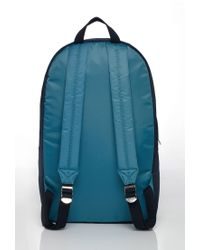 Forever 21 Blue Men Colorblock Quilted Backpack for men