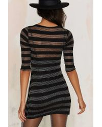 Nasty Gal | Black After Party Vintage Stripe A Mini Dress | Lyst