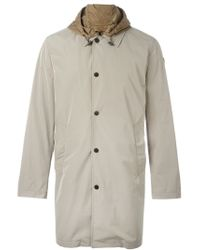 Moncler - Gray Hooded Raincoat for Men - Lyst