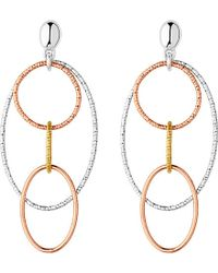 Links of London - Metallic Aurora Multi Loop Chandelier Earrings - Lyst