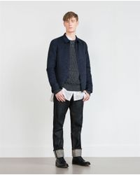 Zara | Blue Twist Knit Sweater for Men | Lyst