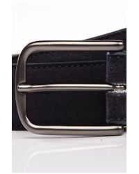 BOSS Green - Blue Leather Belt: 'totos' for Men - Lyst