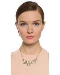 kate spade new york | Metallic Eyelet Garden Necklace - White Multi | Lyst