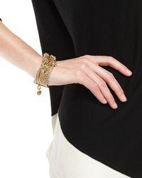 St. John | Metallic Boucle Knot Chain Bracelet | Lyst