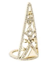 House of Harlow 1960 | Metallic Tres Tri Finger Ring | Lyst