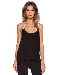 Blue Life - Black Fit Double Strap Tank - Lyst
