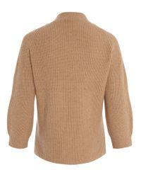 3.1 Phillip Lim | Natural Camel Raglan Chunky Knit Jumper | Lyst