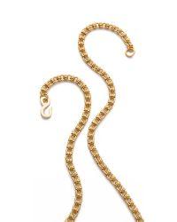 Kenneth Jay Lane - Metallic Butterfly Tassel Necklace - Lyst