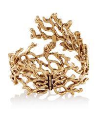Oscar de la Renta - Metallic Gold-Plated Cuff - Lyst