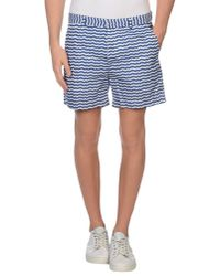 MSGM - Blue Bermuda Shorts for Men - Lyst