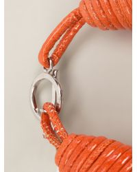 Brunello Cucinelli | Orange Multi Strand Choker | Lyst