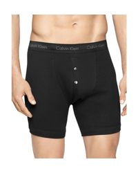 Calvin Klein | Black Classic Button Fly Boxer Briefs, Pack Of 3 for Men | Lyst
