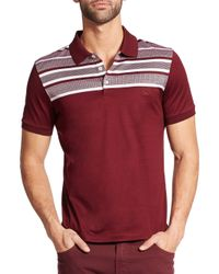 Ferragamo - Purple Herringbone Cotton Polo for Men - Lyst