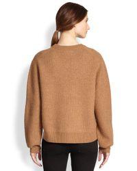 Acne Studios Brown Oversized Wool Sidezip Sweater