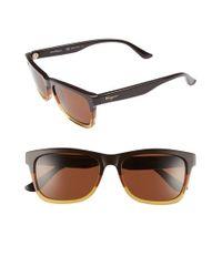 Ferragamo - Brown Retro Sunglasses for Men - Lyst