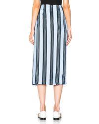 Acne Studios - Blue Karlis Stripe Skirt - Lyst