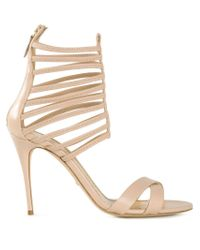 Jerome C. Rousseau - Natural Strappy Stiletto Sandals - Lyst